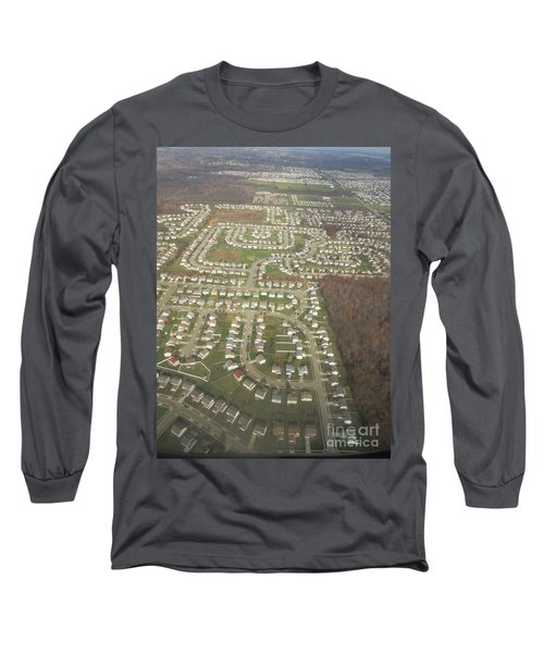 An Aerial View Of Columbus Long Sleeve T-Shirt