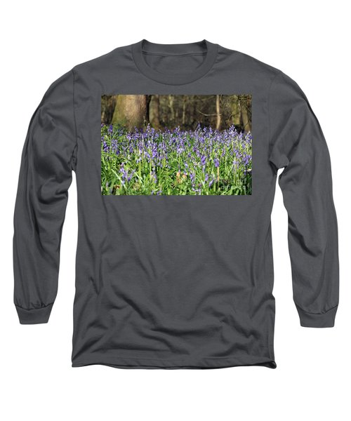 Bluebells At Banstead Wood Surrey Uk Long Sleeve T-Shirt
