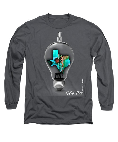 Dallas Texas Map Collection Long Sleeve T-Shirt