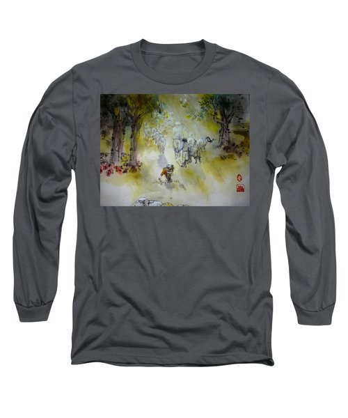 Italy Love Life And Linguini Album Long Sleeve T-Shirt by Debbi Saccomanno Chan
