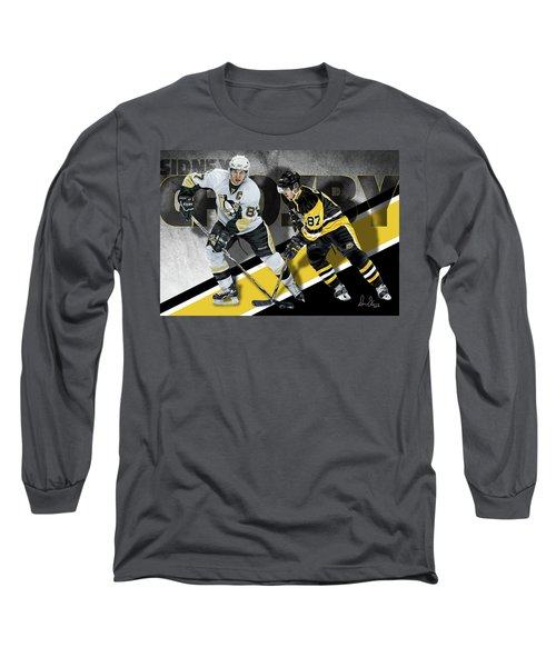Long Sleeve T-Shirt featuring the photograph Sidney Crosby by Don Olea