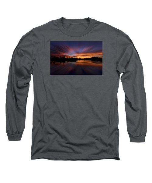 Sunrise At Naples, Florida Long Sleeve T-Shirt by Peter Lakomy