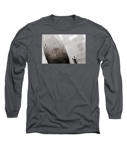 Long Sleeve T-Shirt featuring the photograph Vintage Beer Bottle Ussr by Andrey  Godyaykin