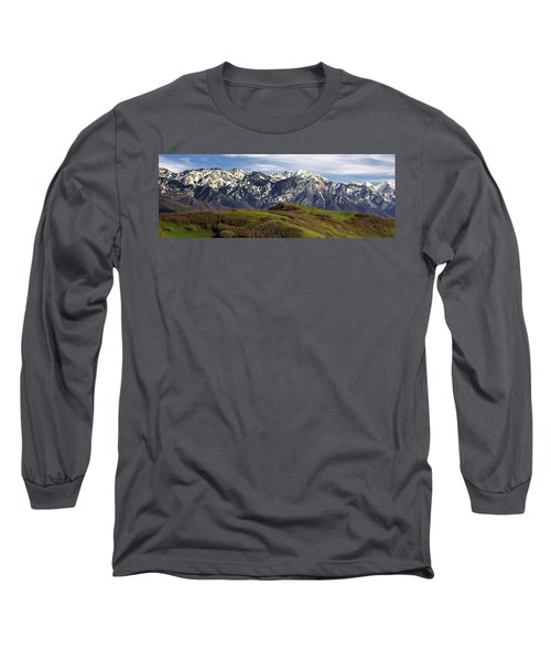 Wasatch Mountains Long Sleeve T-Shirt by Utah Images