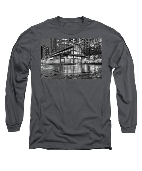 72nd Street Subway Station Bw Long Sleeve T-Shirt by Jerry Fornarotto