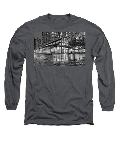 72nd Street Subway Station Bw Long Sleeve T-Shirt
