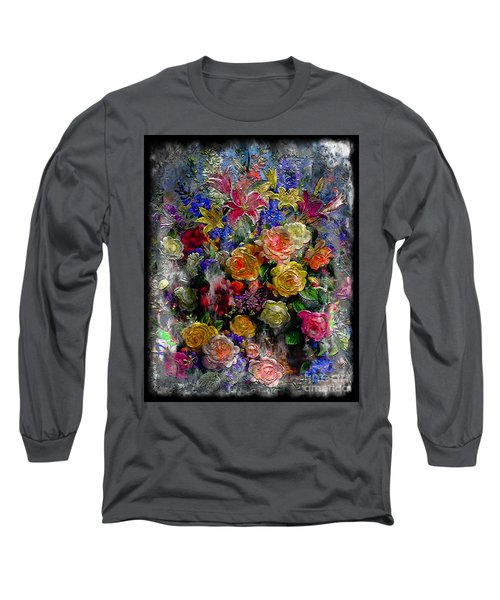 7a Abstract Floral Painting Digital Expressionism Long Sleeve T-Shirt