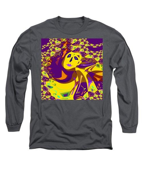874 - Mellow Yellow Clown Lady - 2017 Long Sleeve T-Shirt