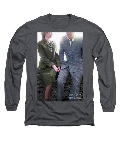 1940s Couple Long Sleeve T-Shirt by Lee Avison