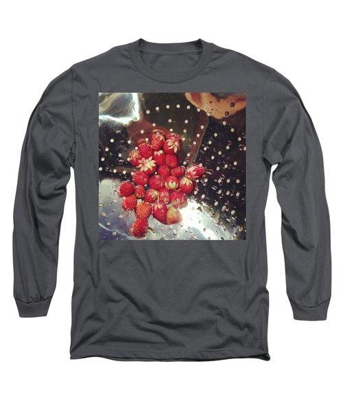 Wild Strawberries Long Sleeve T-Shirt by Salamander Woods Studio-Homestead