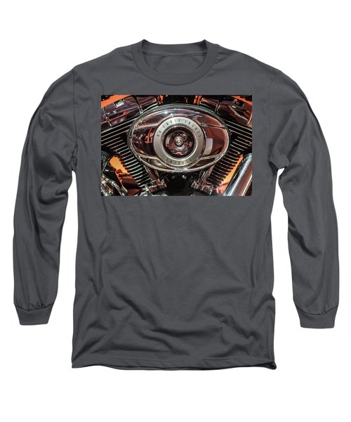 Long Sleeve T-Shirt featuring the photograph 96 Cubic Inches Softail by Randy Scherkenbach