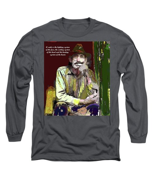 Motivational Quotes Long Sleeve T-Shirt by Charles Shoup