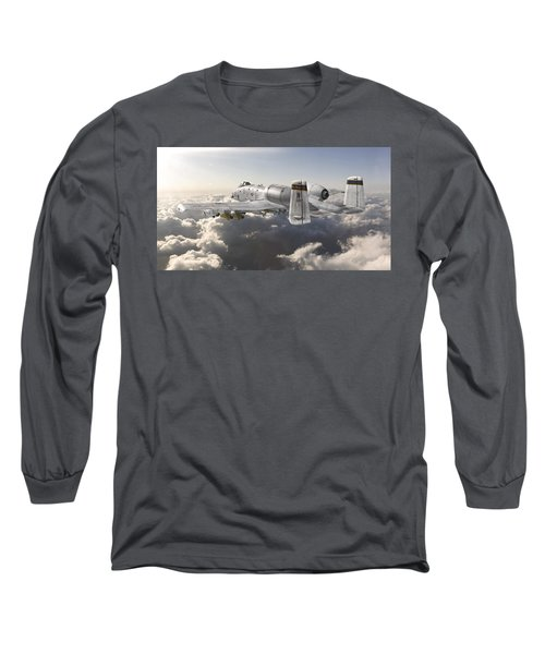 A-10 Thunderbolt II Long Sleeve T-Shirt by David Collins