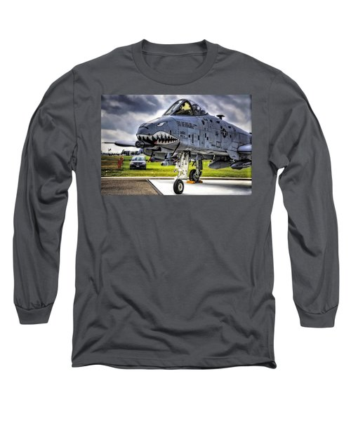 A-10 Thunderbolt  Long Sleeve T-Shirt by Michael White