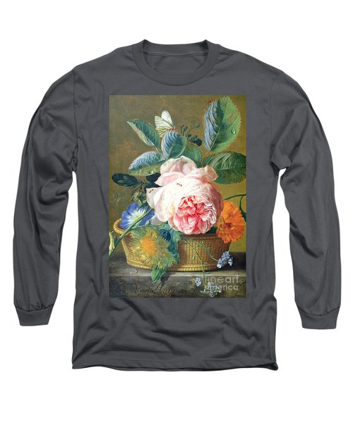A Basket With Flowers Long Sleeve T-Shirt