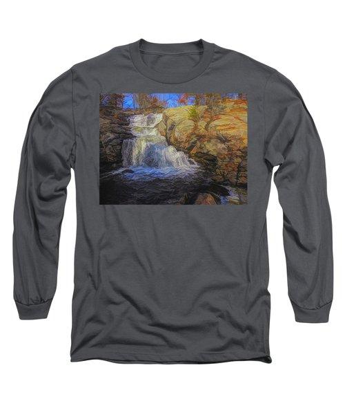 A Beautiful Connecticut Waterfall. Long Sleeve T-Shirt