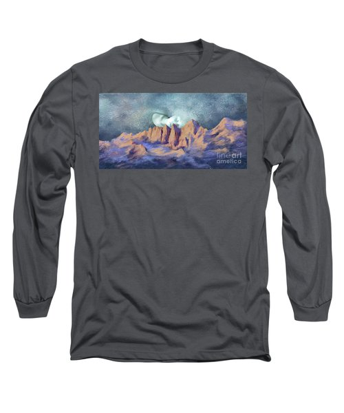 Long Sleeve T-Shirt featuring the painting A Breath Of Tranquility by Sgn
