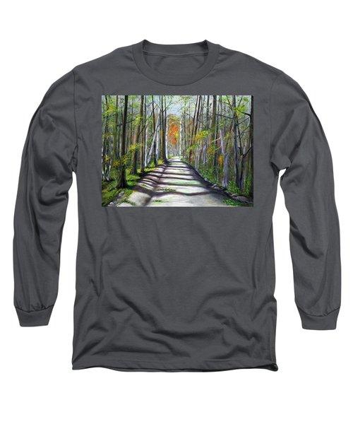 A Bright Autumn Day  Long Sleeve T-Shirt