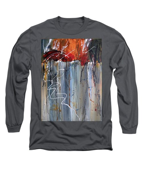 A Burning Issue Long Sleeve T-Shirt by Nancy Jolley