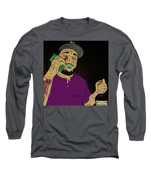 Long Sleeve T-Shirt featuring the digital art a by Chief Hachibi