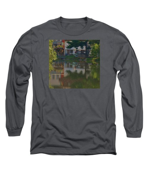 Long Sleeve T-Shirt featuring the photograph A Cities Reflection by Ramona Whiteaker
