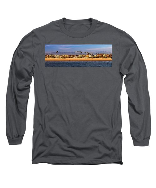 Long Sleeve T-Shirt featuring the photograph A Clear Day At The Beach by James Eddy