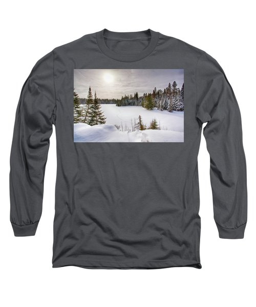 A Cold Algonquin Winters Days  Long Sleeve T-Shirt