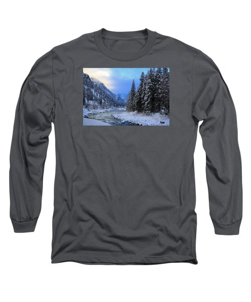 A Cold Winter Day Version 2 Long Sleeve T-Shirt by Lynn Hopwood