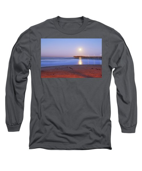 A Crystal Moon Long Sleeve T-Shirt by Joseph S Giacalone