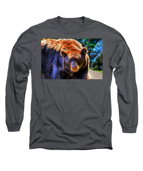 A Curious Black Bear Long Sleeve T-Shirt