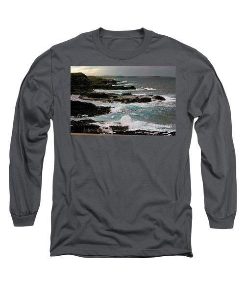 A Dangerous Coastline Long Sleeve T-Shirt by Blair Stuart