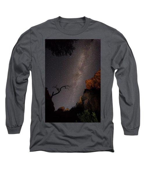 A Dark Night In Zion Canyon Long Sleeve T-Shirt