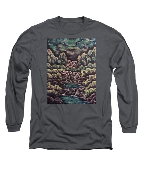 Long Sleeve T-Shirt featuring the painting A Day To Remember by Cheryl Pettigrew
