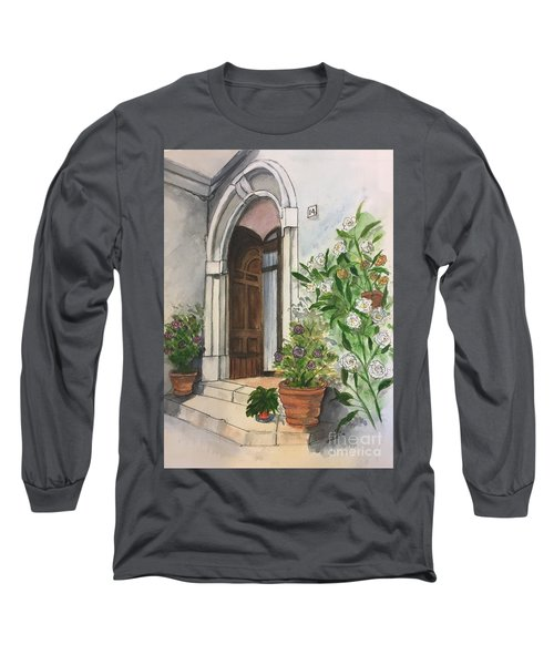 A Door In Castellucco, Italy Long Sleeve T-Shirt