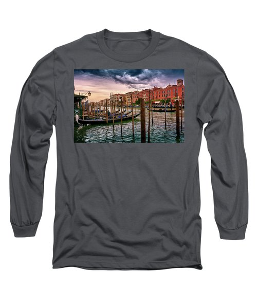 Surreal Seascape On The Grand Canal In Venice, Italy Long Sleeve T-Shirt