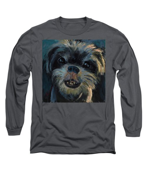 Long Sleeve T-Shirt featuring the painting A Face Only A Mother Could Love by Billie Colson