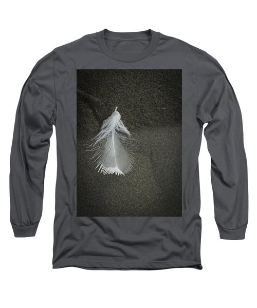 A Feather At The Edge Of The Water Long Sleeve T-Shirt