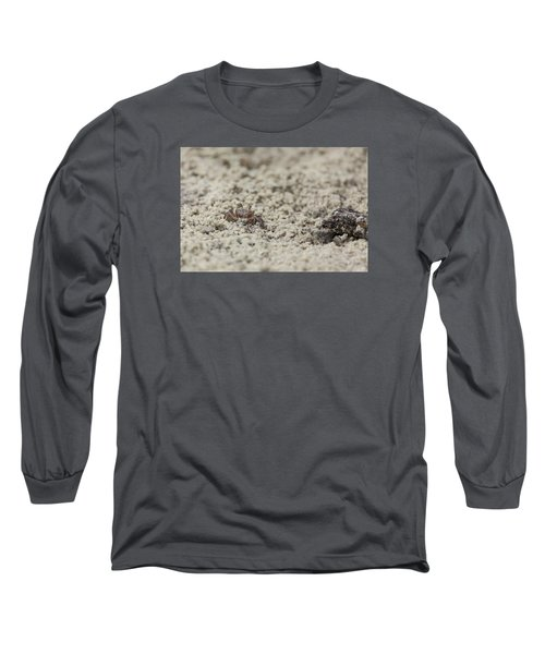 A Fiddler Crab In The Sand Long Sleeve T-Shirt