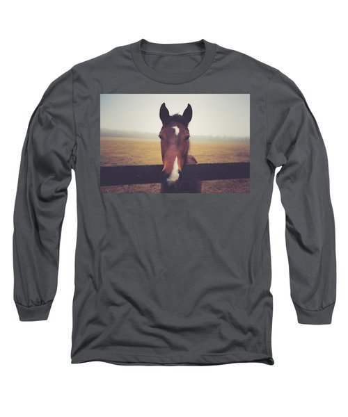 Long Sleeve T-Shirt featuring the photograph A Foggy Christmas Day by Shane Holsclaw