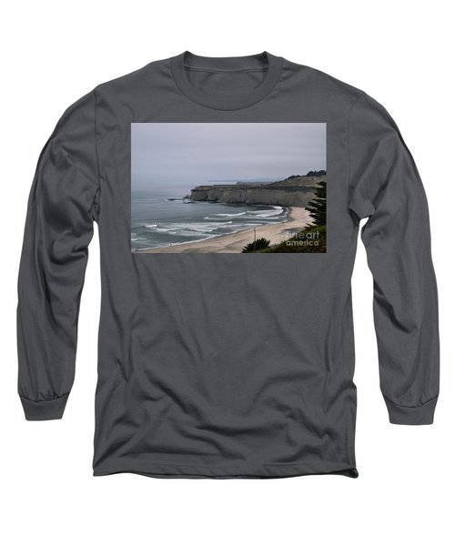 A Foggy Day On Hwy 1 Long Sleeve T-Shirt