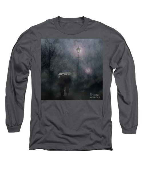 Long Sleeve T-Shirt featuring the photograph A Foggy Night Romance by LemonArt Photography