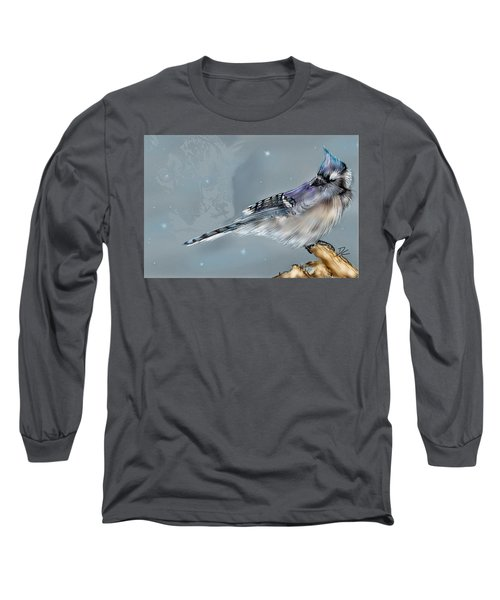 Long Sleeve T-Shirt featuring the digital art A Friend For Lunch Three by Darren Cannell