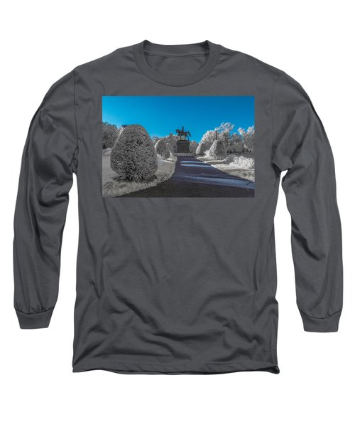 A Frosted Boston Public Garden Long Sleeve T-Shirt