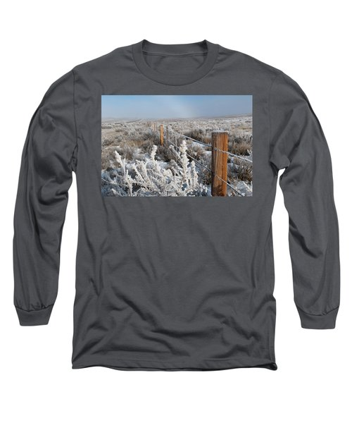 A Frosty And Foggy Morning On The Way To Steamboat Springs Long Sleeve T-Shirt