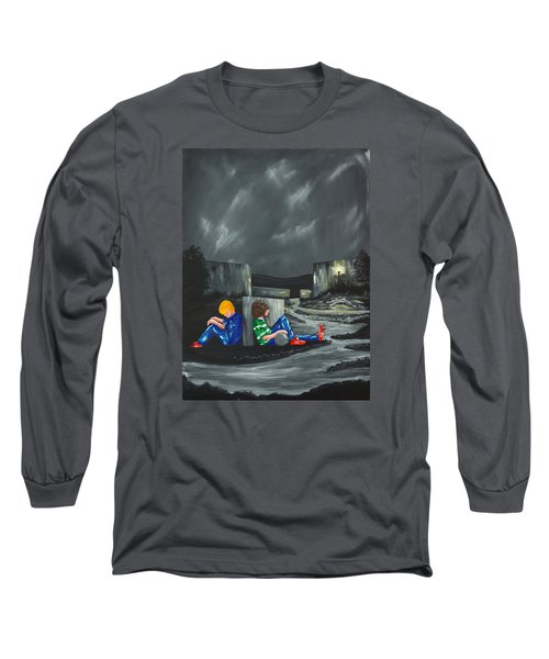 A Game Of Two Divides Long Sleeve T-Shirt by Scott Wilmot