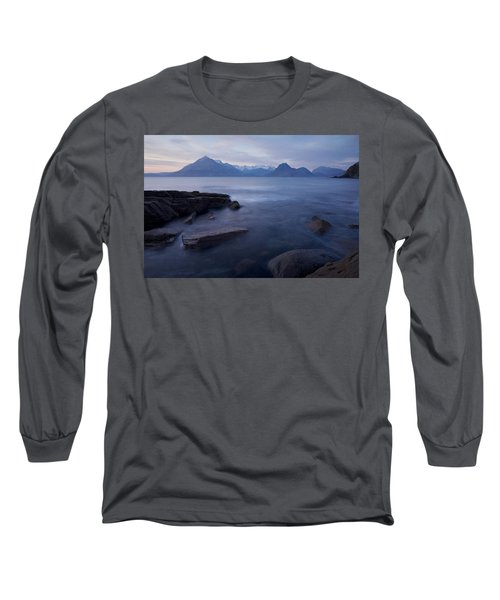 A Gentle Sunset At Elgol  Long Sleeve T-Shirt