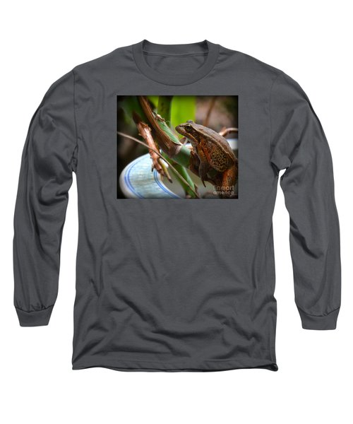 Long Sleeve T-Shirt featuring the photograph A Guest by Tanya  Searcy