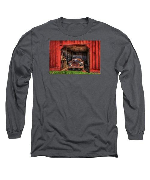 A Hiding Place 1949 Ford Pickup Truck Long Sleeve T-Shirt by Reid Callaway