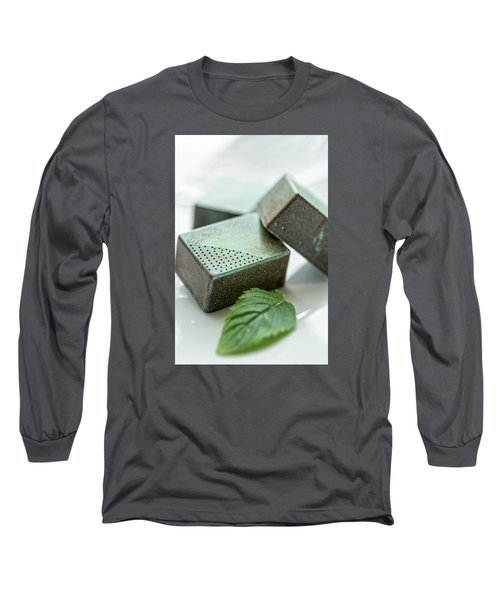 A Hint Of Mint Long Sleeve T-Shirt by Sabine Edrissi