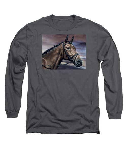Long Sleeve T-Shirt featuring the photograph A Horse Called Zi by Brian Tarr